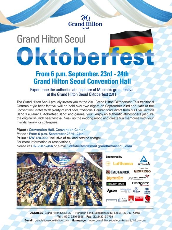 Grand Hilton Seoul Oktoberfest Festival 2011